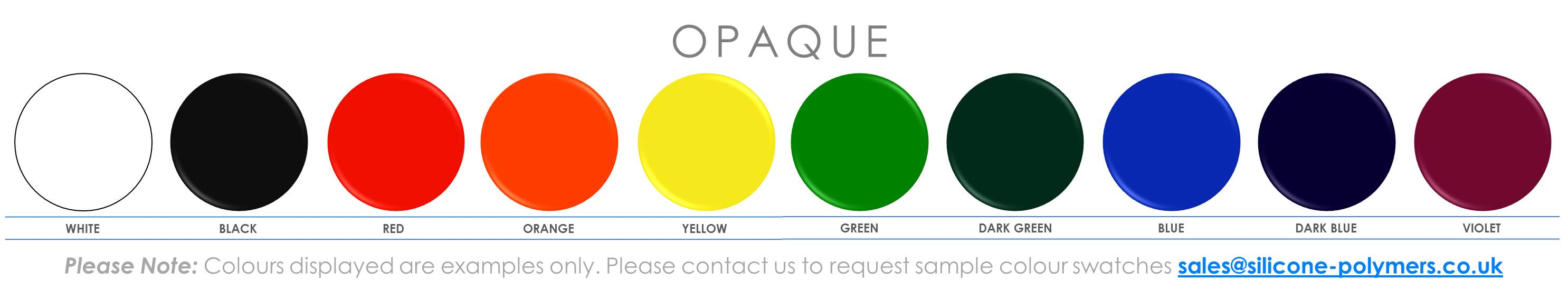Opaque Colour Swatches